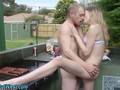 Outdoor amateur jizzed