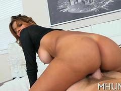 Juicy MILF with fake tits seduced and fucked by Levi Cash