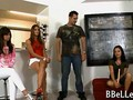 Brandi Belle watches her friends having hot cfnm fun