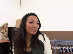 Well-hung black stud bangs an Asian stunner