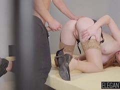 Horny Ben slams his cock into Linda Sweets tight asshole