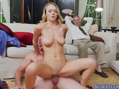 Teen Molly Mae fucked by old grand dad