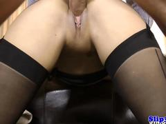 Glam eurobabe blows and rides old mans cock