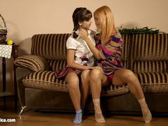 Minerva and sexy Liona enjoying eachother on Sapphic Erotica