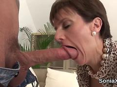 Unfaithful english mature lady sonia flashes her enormous naturals