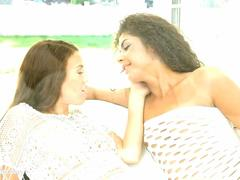 Lesbian sex with Tiffany Doll and Laurita on Sapphic Erotica