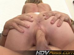 Sweety Blonde Babe Chastity Lynn Ridding a Cock Cum on Face