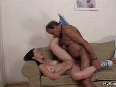 Father in law fucks sons brunette gf