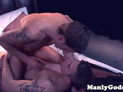 Ripped hunks assfuck after romantic blowjob
