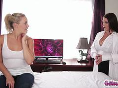 Mia Malkova and Angela White have lesbian sex