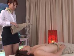 Subtitled traditional Japanese bottomless massage Yui Hatano