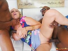Julia Ann gets 2 Big Black Snakes