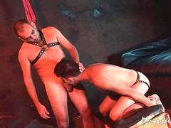 tied in a nice bundle twink sub gets used orally video