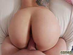 Big ass babe gets smashed doggy style in POV