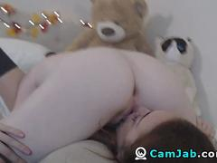 Naughty Lesbian Couple Licking And Fingering Pussy