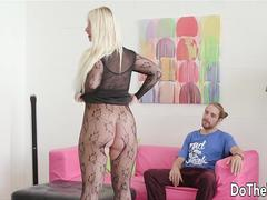 Blonde Wife black dick cream pie