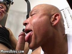 Blowjob sex session with a twink and his horny lover