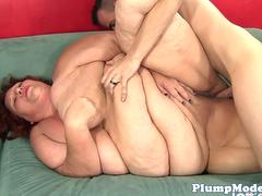Redhead SSBBW pussy pounded from behind