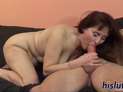 Horny mature slag has her beaver drilled