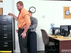 Watch straight guy humping gay First day at work