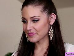 Beautiful Petite Gracie Glam fucks her Boss Charley in her office