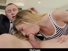 FILF - Teen slut Sydney Cole craves her stepdads cock