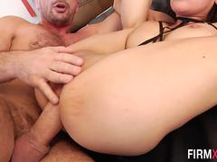 Busty asian has anal sex