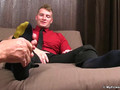Relaxed fellow gets feet and toe sucked while jerking off