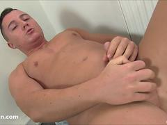 Richard Rox Uncut Cock Masturbation
