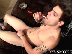 Horny cigar smoking thug Drac knows how to have fun solo