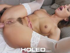 HOLED Anal warm up toy fuck and facial with brunette Adriana Chechik
