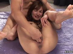 She has a hot time as she gets a sloppy fuck to endure