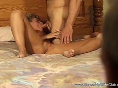 Creampie For Swinger Housewife From Horny Stranger