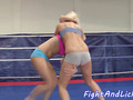 Wrestling european lezzies seducing pussies