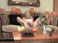 Filthy blonde Tinkerbell orgasms with extreme vegetable toys and pearl beads insertion