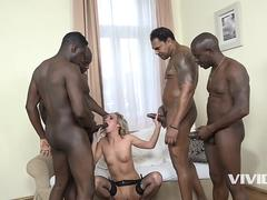 Vivid.com - Slutty girl gets rammed by a black train of 4 wagons