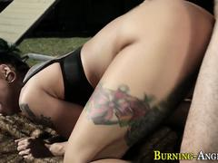 tattooed babe gets anal hard