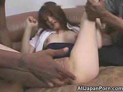Japanese Girl vs Two BBCs Uncensored!