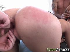 bdsm slut gags on cock clip