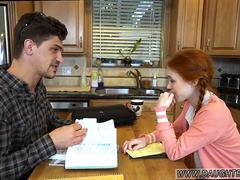Vintage man fuck mother  duddys daughter Dolly Little is in need of some tutoring and