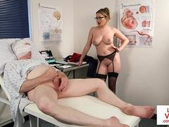 Spex nurse voyeur instructs patient with JOI