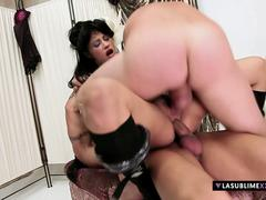 LaSublimeXXX Valentina Canali slutty pinup enjoys threesome