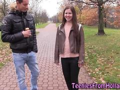 Dutch teen gets facial