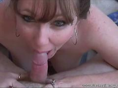 Chubby MILF Gives Sweet Blowjob
