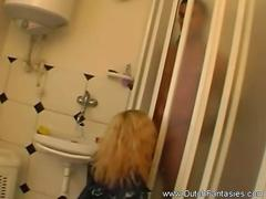 Rough Bathroom Sex of n amateur couples  In The Netherlands