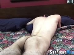 Hung straighty gets tug