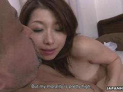 Small titty Asian bitch getting her pussy slammed doggystyle