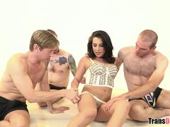 Double anal for TS Chanel Santini