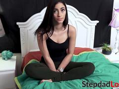Beautiful stepdaughter Jasmine Vega banged and creamed