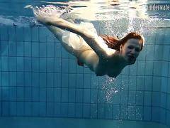 Special Czech teen hairy pussy in the pool
